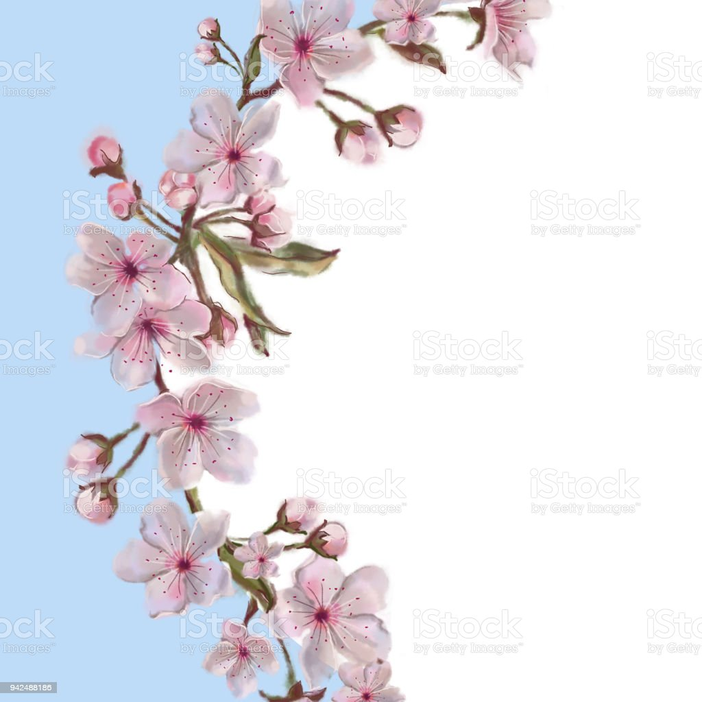 spring floral watercolor painted template stock vector art more