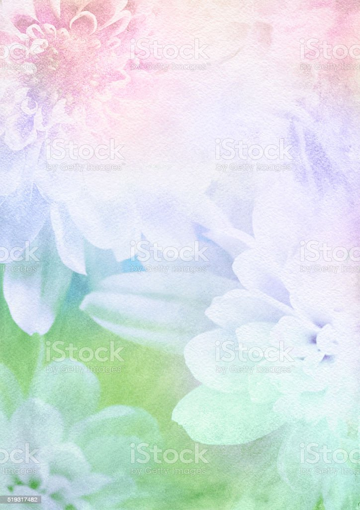 Spring flower watercolor background stock vector art for Spring flowers watercolor