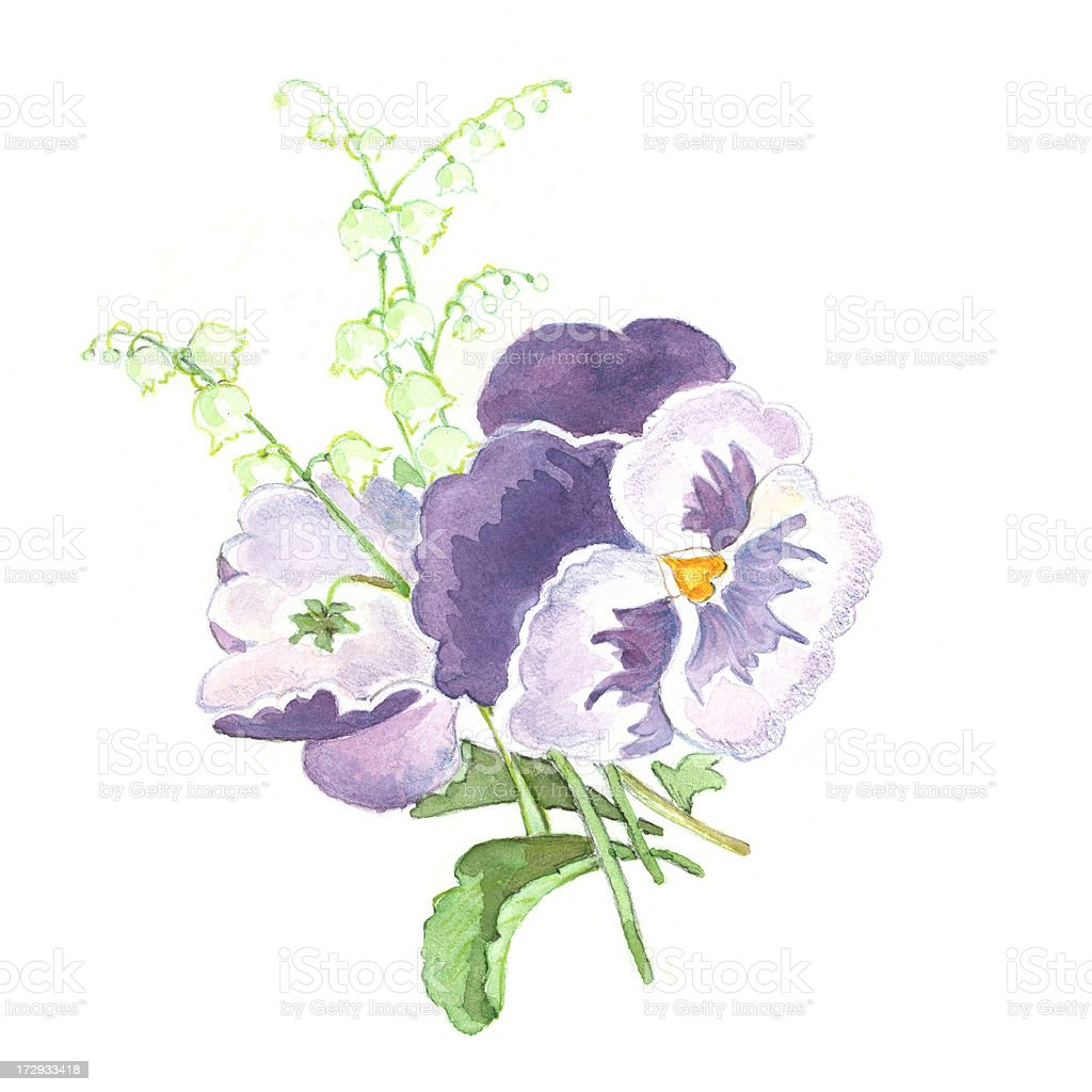 Spring Flowers Arrangement royalty-free stock vector art