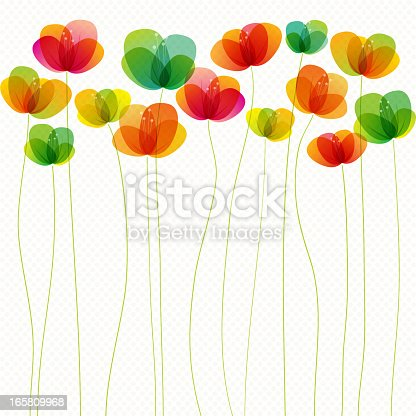 Seamless vector illustration of some tall spring flowers.