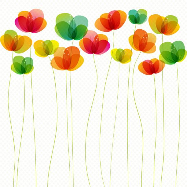 Spring flowers (seamless) vector art illustration