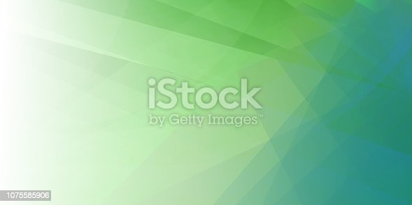 Spring Green Minimal Fold Line Background