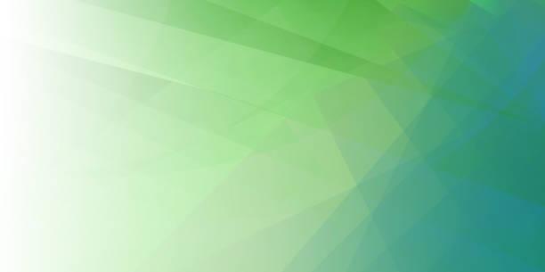stockillustraties, clipart, cartoons en iconen met lente groene minimale fold lijn achtergrond - green background