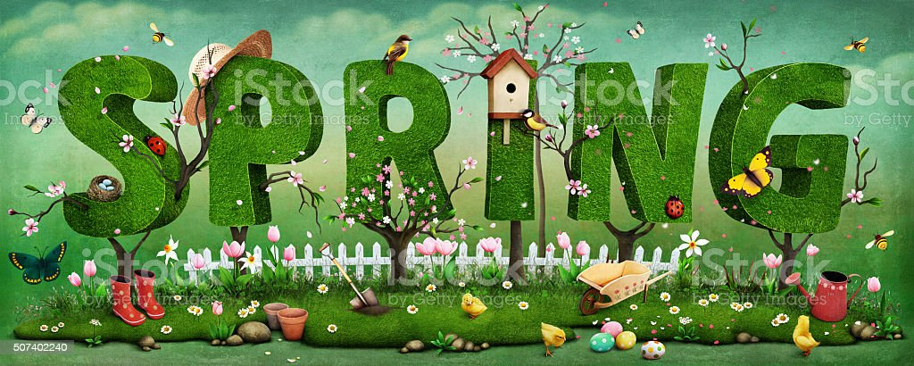 Spring vector art illustration