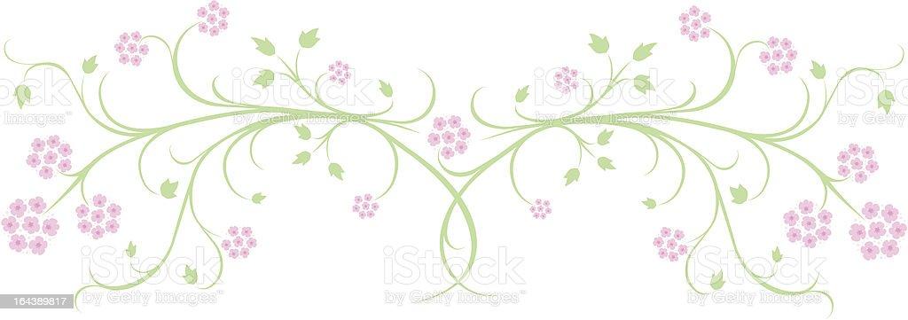 spring lantana flower banner royalty-free stock vector art