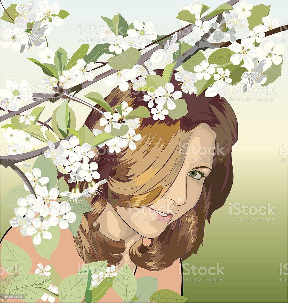 Spring mood royalty-free stock vector art