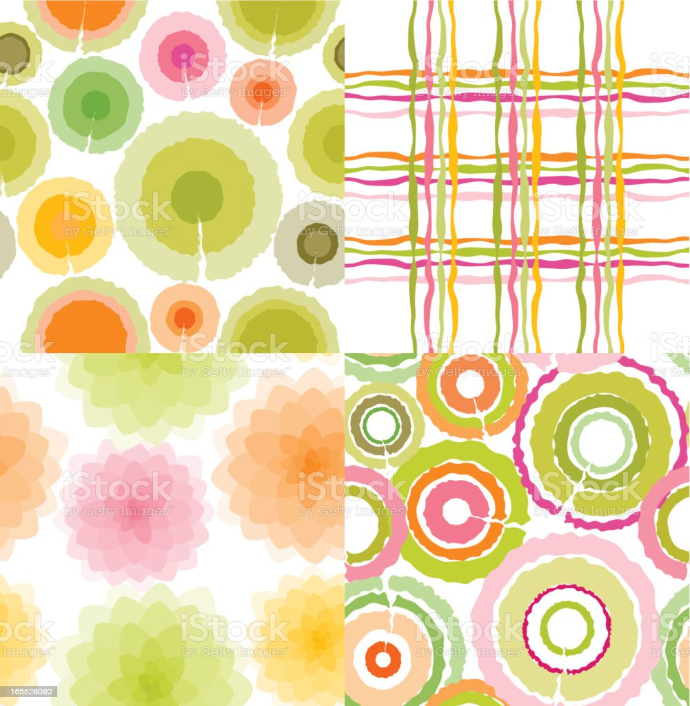 Spring patterns royalty-free stock vector art