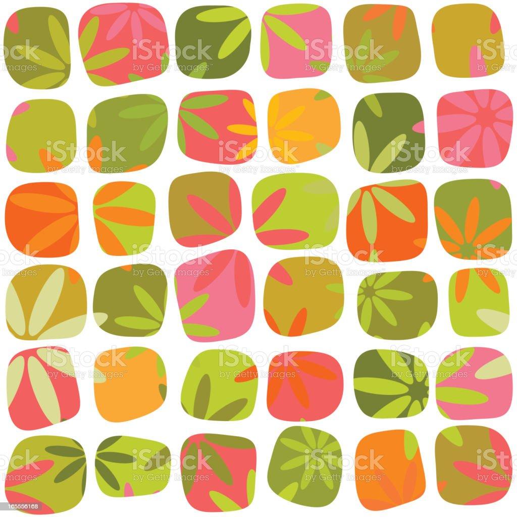 Spring patterns vector art illustration