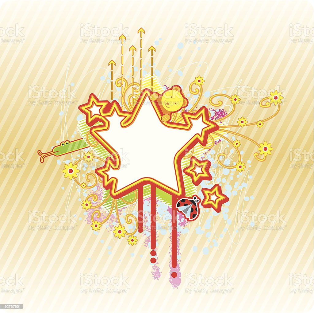 spring star frame royalty-free spring star frame stock vector art & more images of abstract