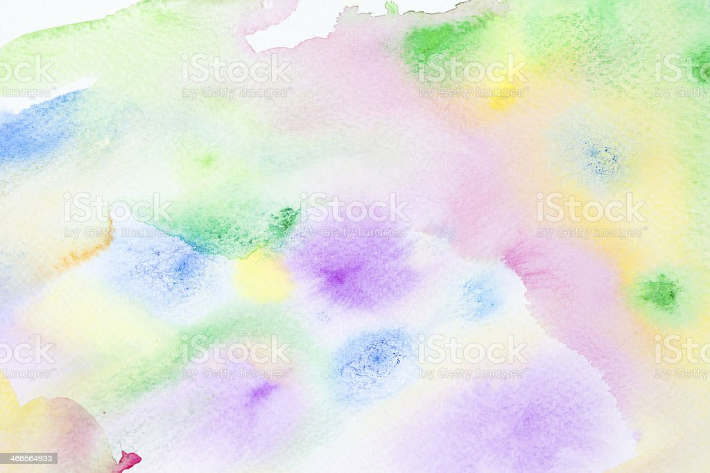 Spring Watercolor Abstract Background Stock Illustration