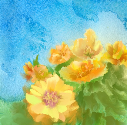 spring watercolor flower background