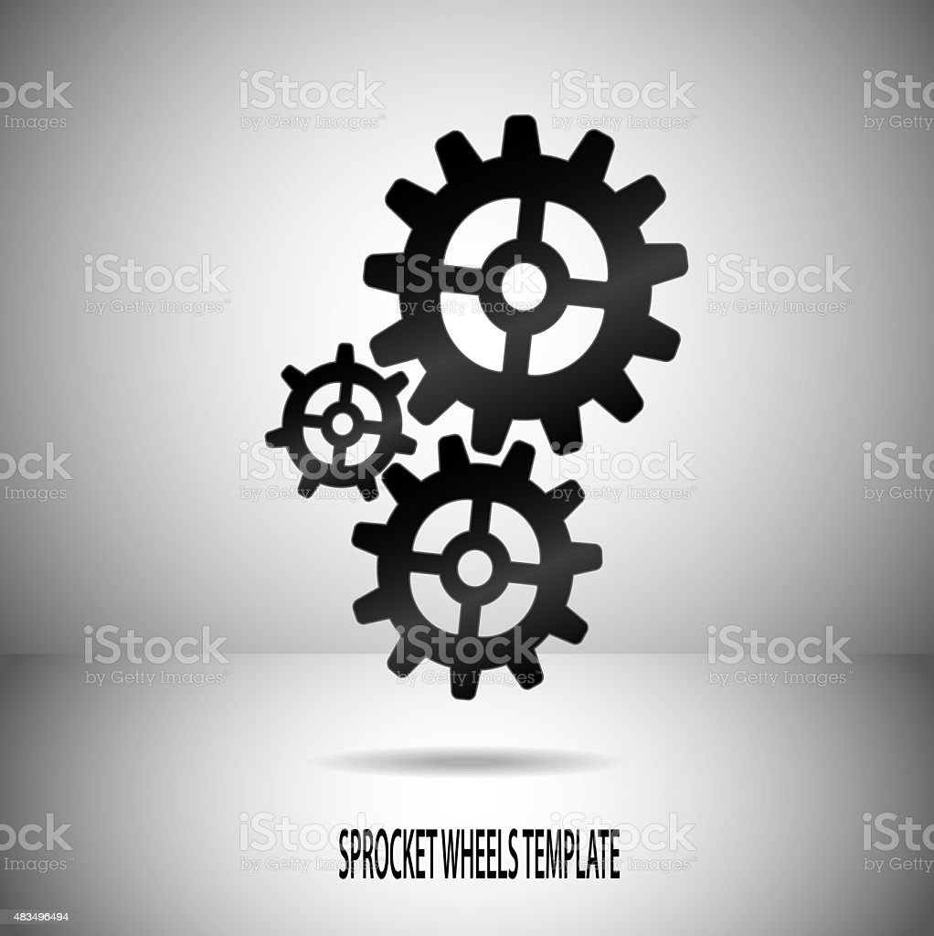 Sprocket Wheels Motif On Divided Background In Greyscale Stock Illustration Download Image Now Istock
