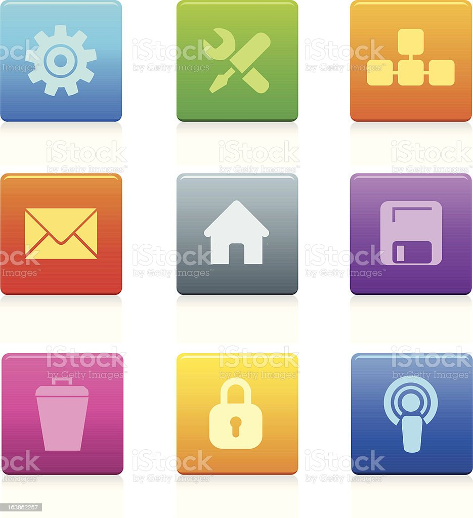 Square Computer Icons royalty-free square computer icons stock vector art & more images of communication