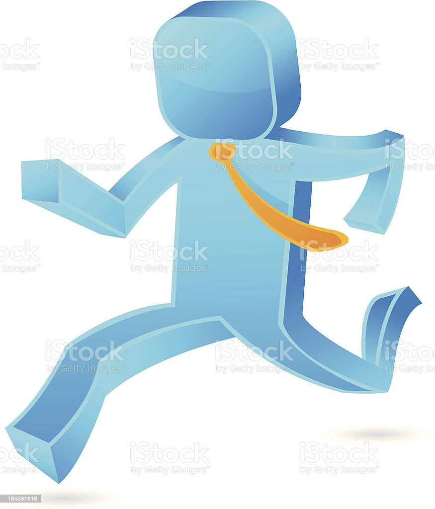 Square guy - Running royalty-free square guy running stock vector art & more images of activity