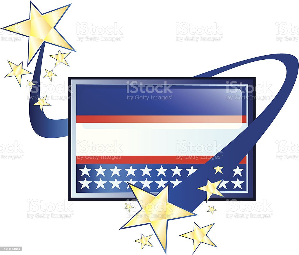 USA Square Icon royalty-free stock vector art