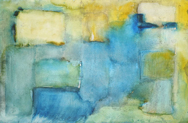 Squares Abstract Painting  modern art stock illustrations