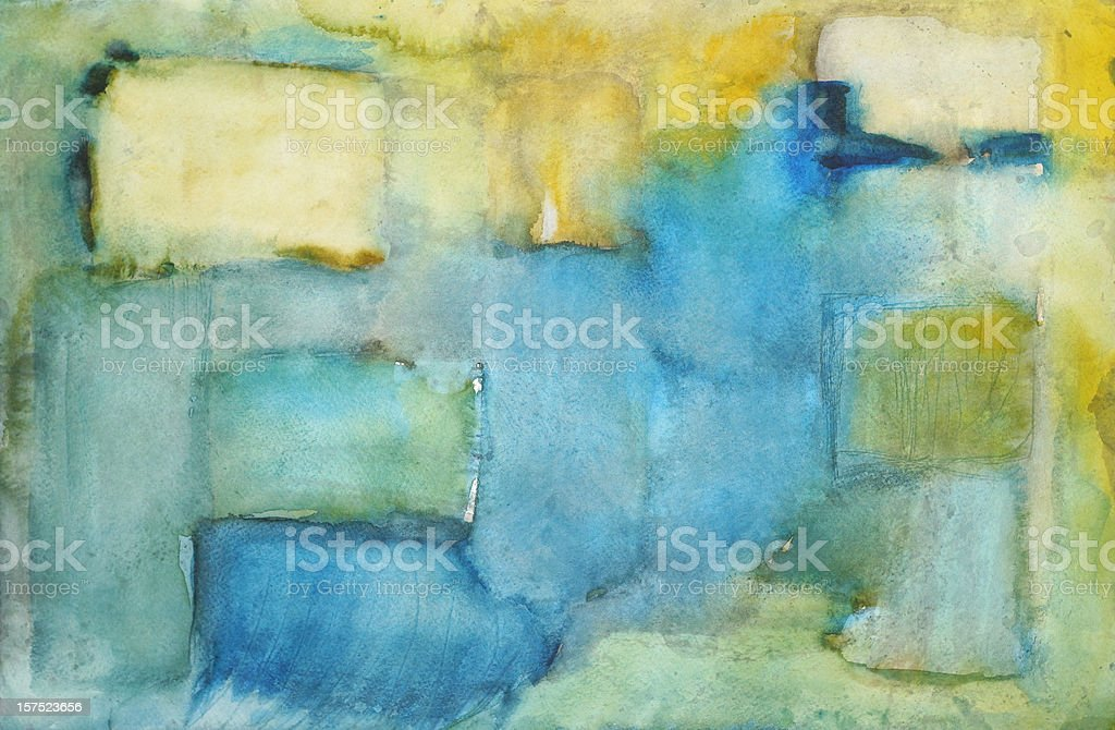 Squares Abstract Painting vector art illustration