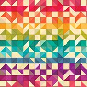squares and triangles isometric abstract conceptual colorful background and patterns