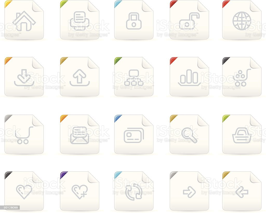 Squaro icon set: Website and Interet royalty-free stock vector art