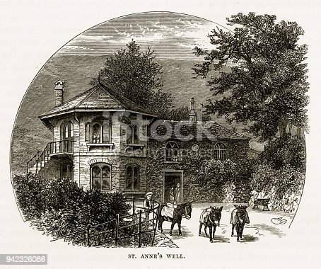 istock St. Anne's Well, in Worcestershire, England Victorian Engraving, 1840 942326086