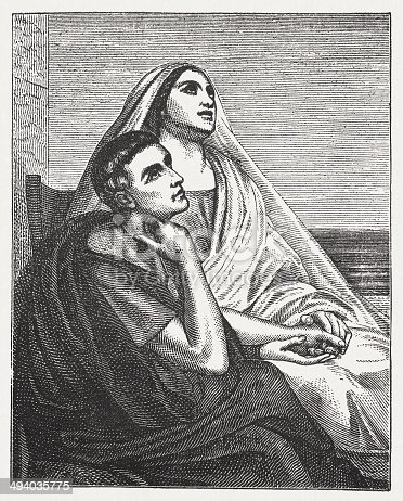 istock St. Augustine and his mother St. Monica, by Ary Scheffer 494035775