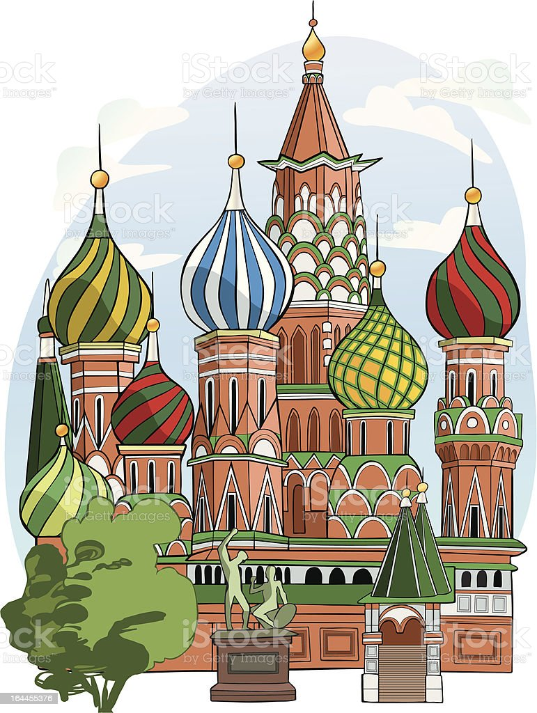 St. Basil Cathedral royalty-free st basil cathedral stock vector art & more images of architecture