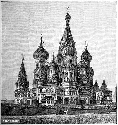 St Basil's Cathedral, Moscow (The Cathedral of the Protection of Most Holy Theotokos on the Moat).