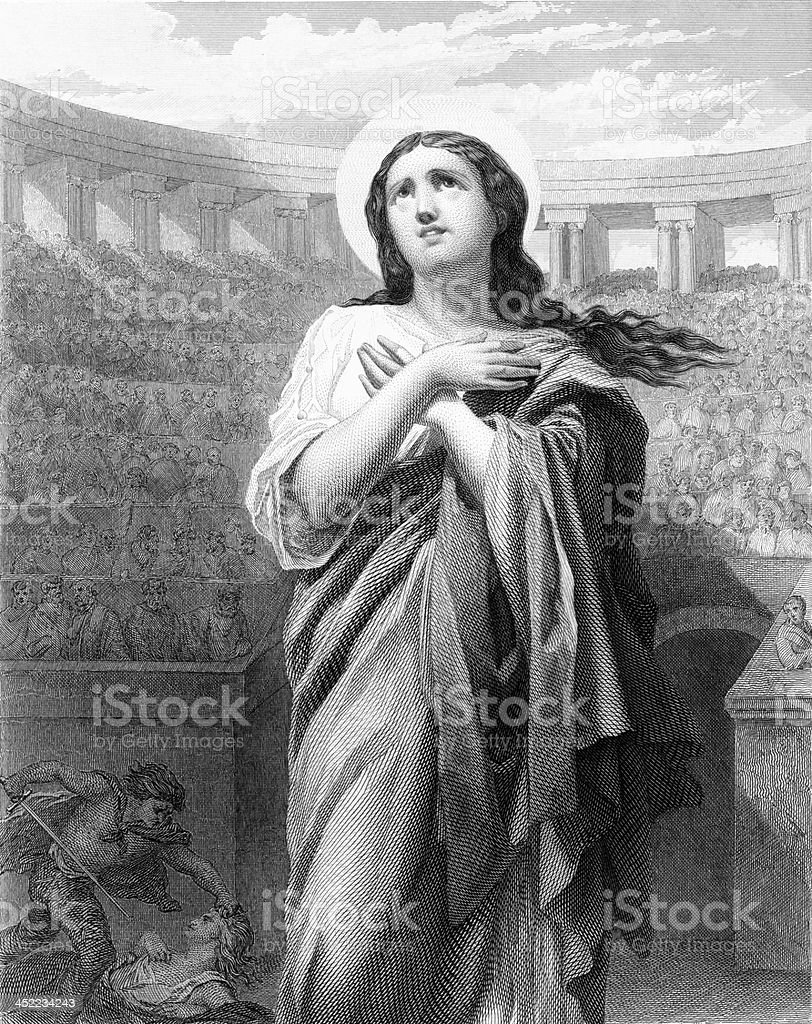 St. Felicitas of Rome - Antique Engraving royalty-free stock vector art