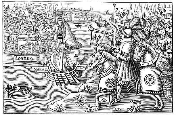 сент-луис прибытия в карфаген - st louis stock illustrations