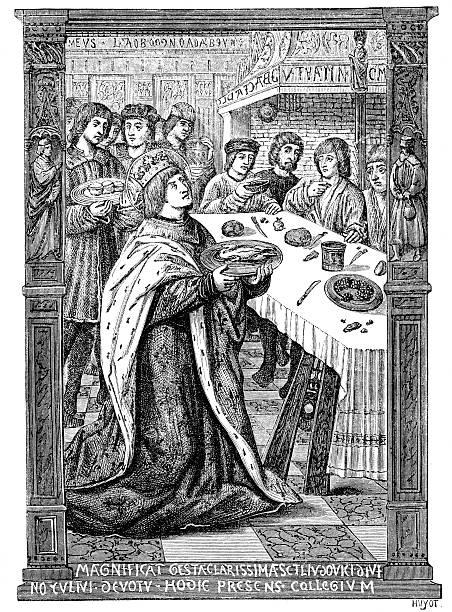 сент-луис, где подают блюда для бедных - st louis stock illustrations