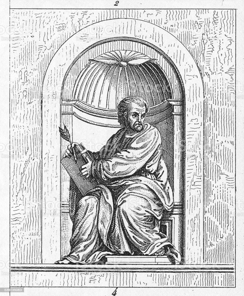 St. Mark by Fra Bartolomeo royalty-free st mark by fra bartolomeo stock vector art & more images of 1850-1859