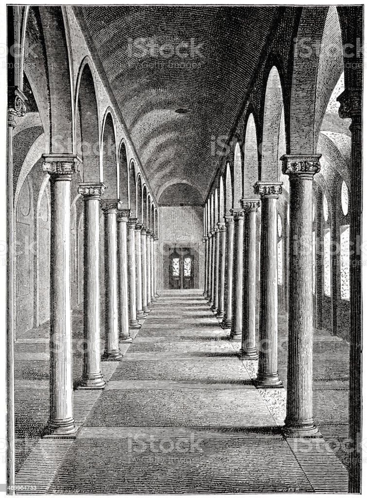 St Mark Library, Venice vector art illustration