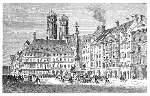 St. Mary´s column in Munich Germany 1862