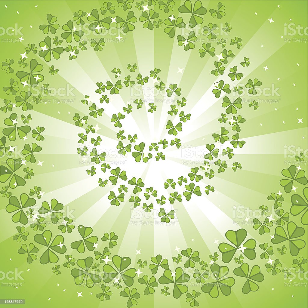 St Patrick's card with clovers royalty-free stock vector art
