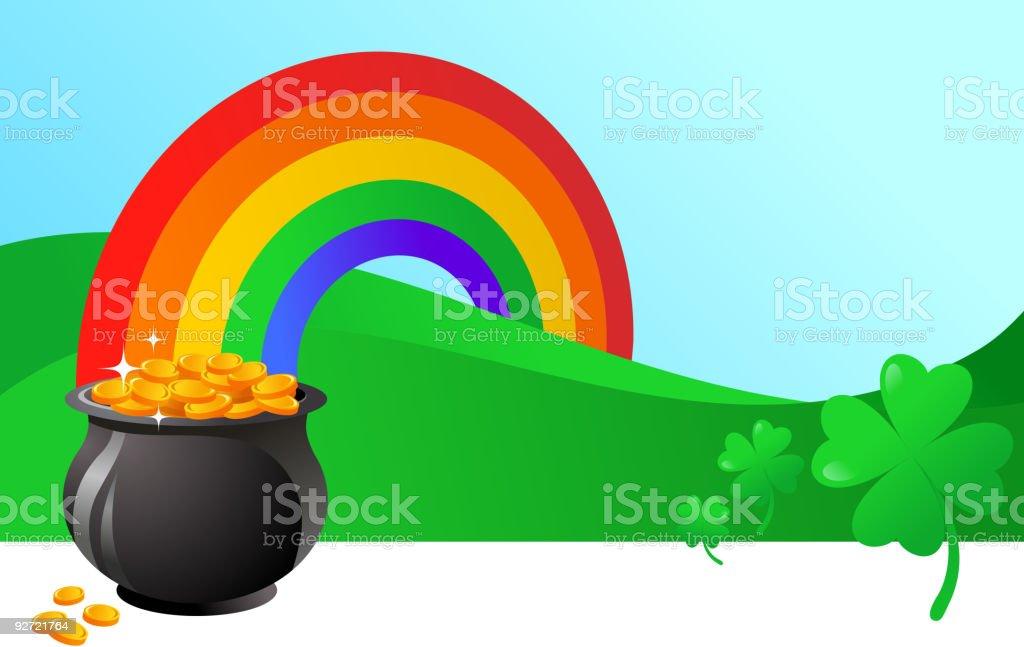 St. Patrick's day banner vector art illustration