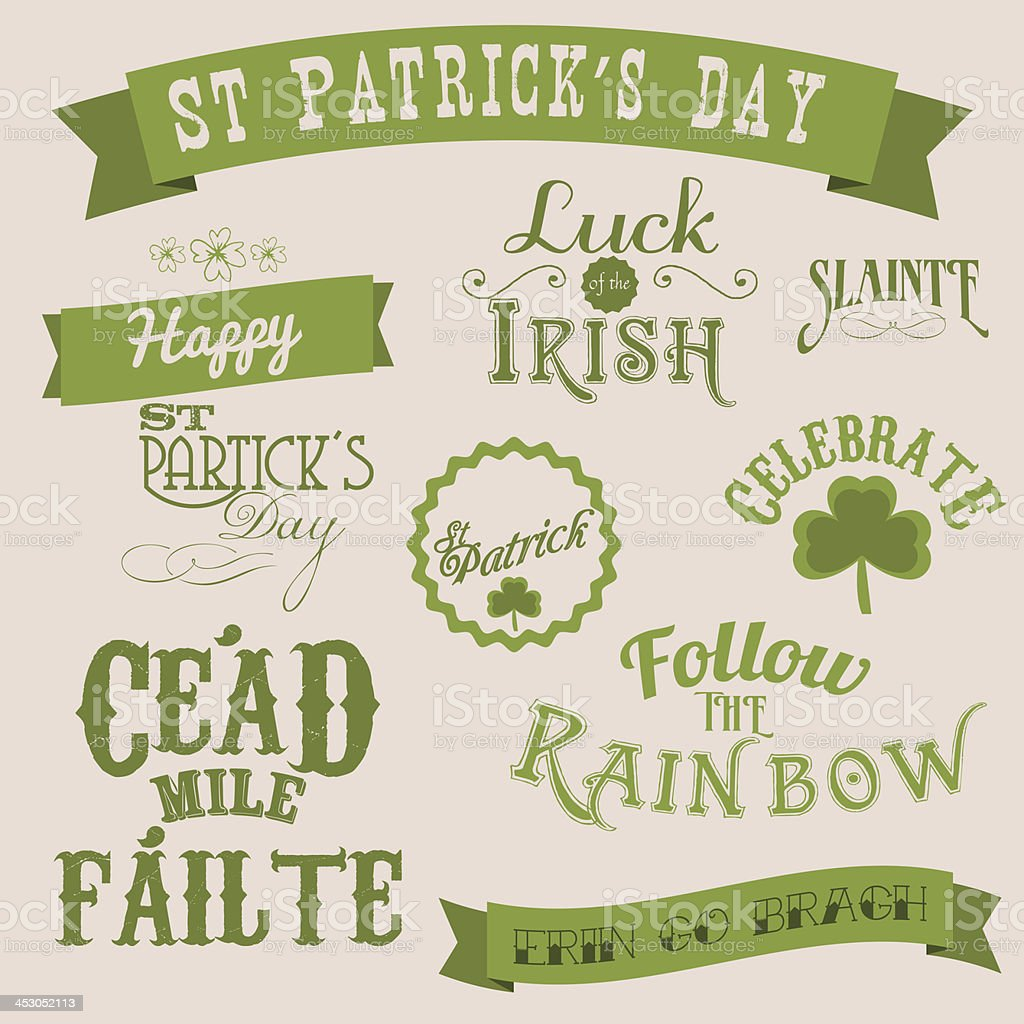 St Patrick's day banners royalty-free stock vector art