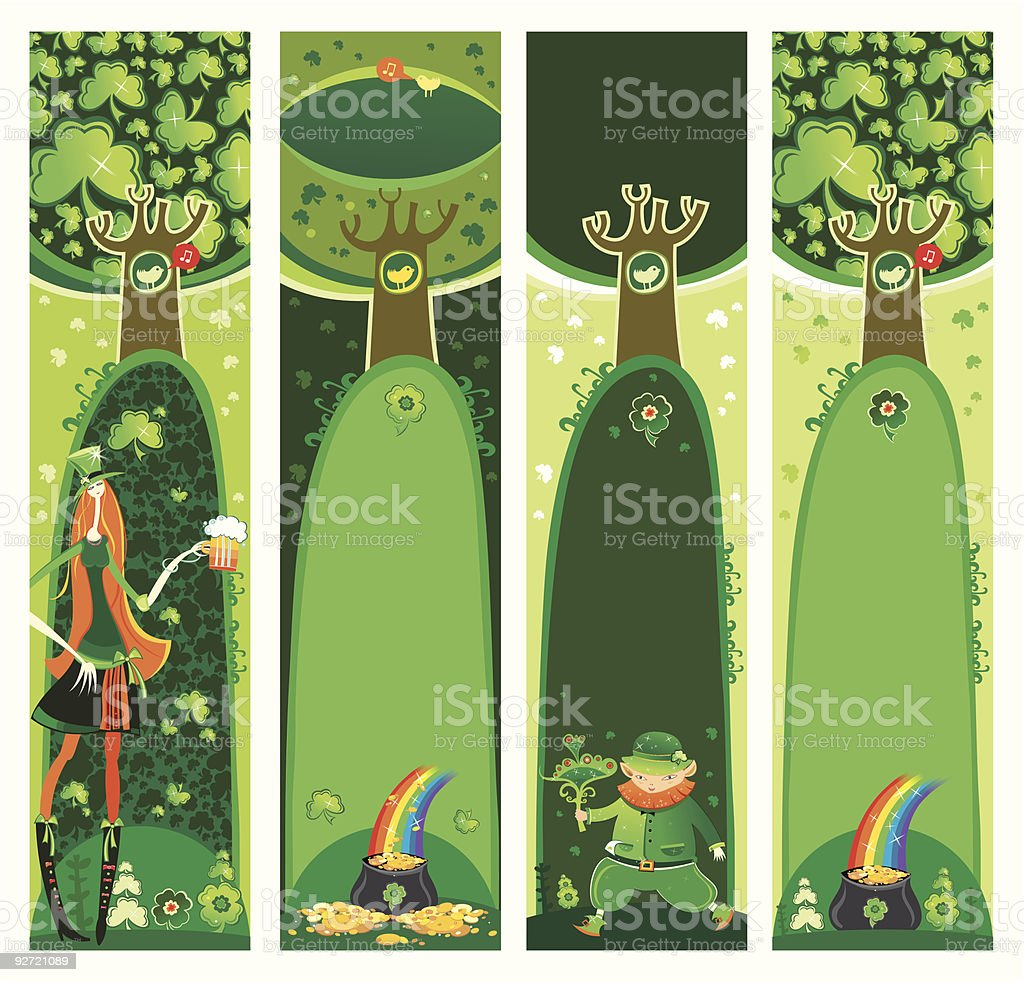 st patricks day banners with copyspace stock vector art 92721089