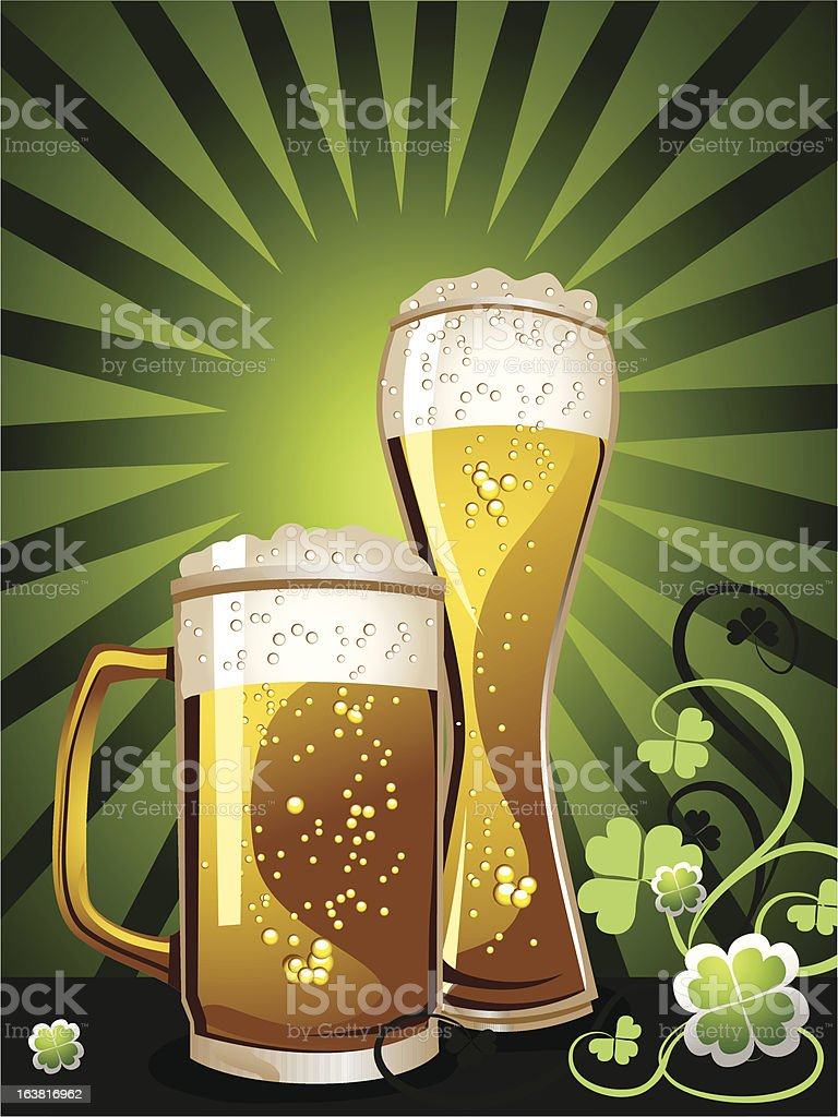 St. Patrick's Day beer vector art illustration