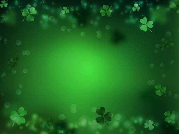 St. Patrick's Day, Green background by a St. Patrick's Day vector art illustration