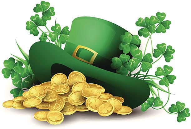 St. Patrick's Day-Mütze – Vektorgrafik