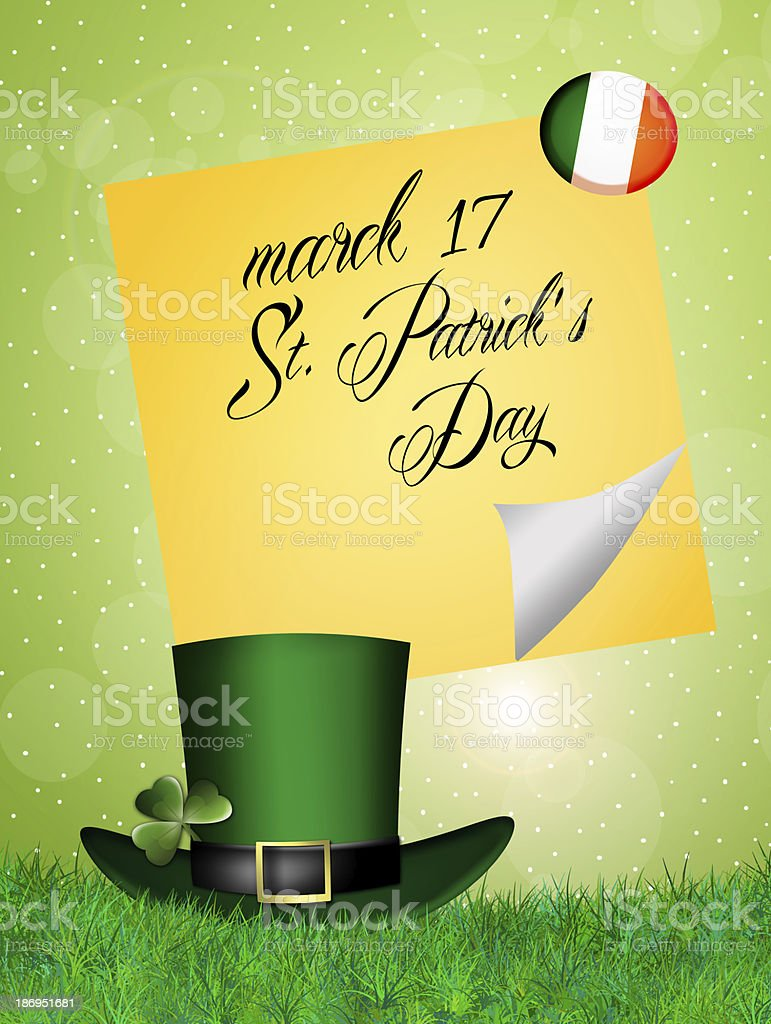 St. Patrick's Day hat royalty-free stock vector art