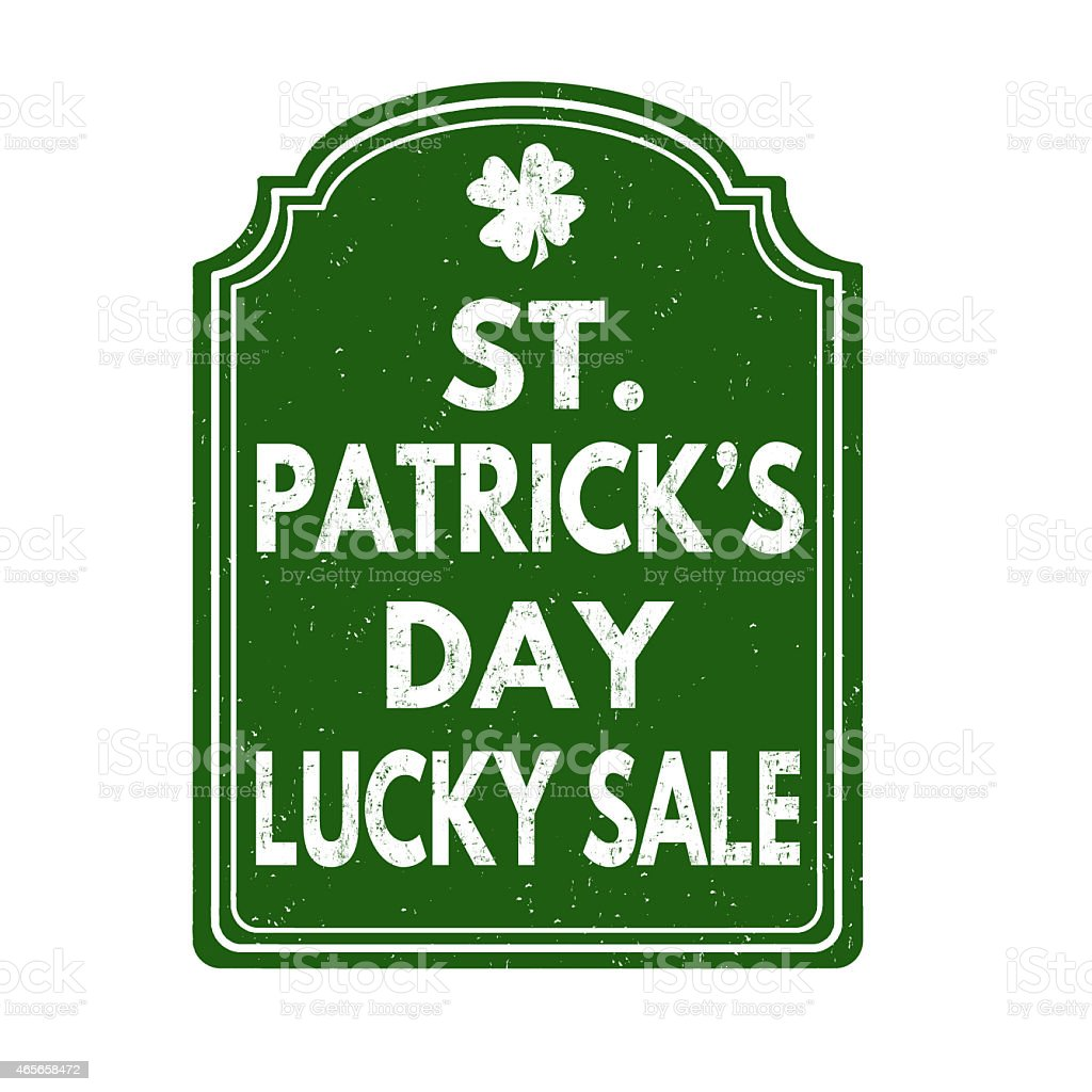 st patricks day lucky sale stamp stock vector art 465658472 istock
