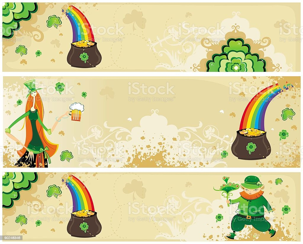 St Patrick's day set of  banners royalty-free stock vector art
