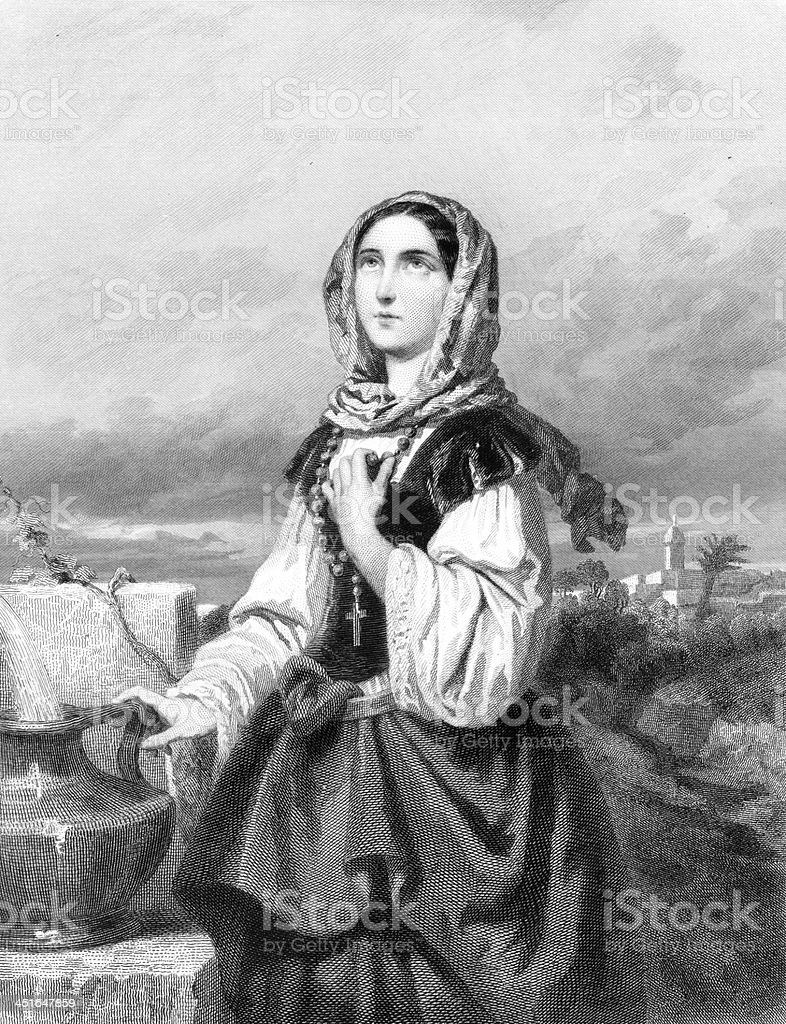 St. Potamiana - Antique Engraving royalty-free st potamiana antique engraving stock vector art & more images of adult