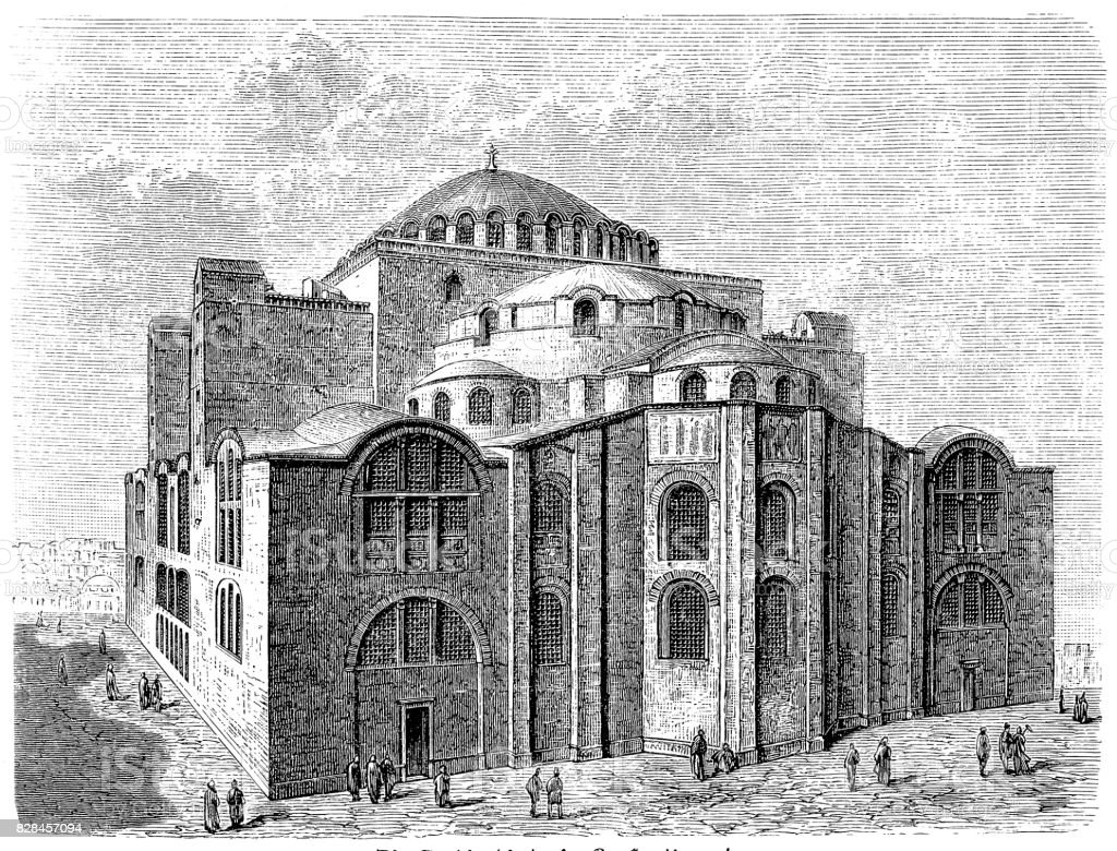 St. Sophia Church in Constantinople vector art illustration