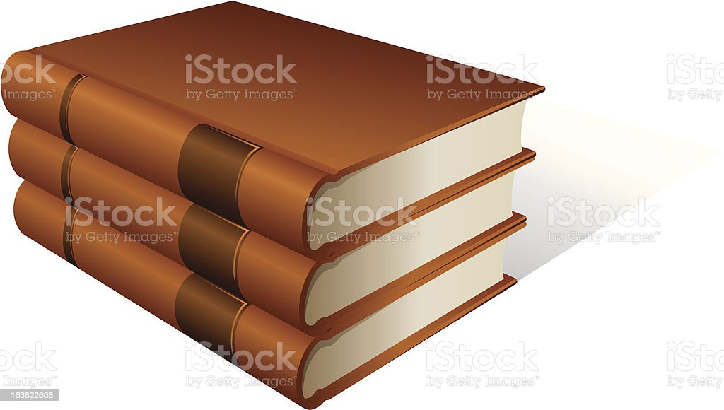 Stack of books royalty-free stock vector art