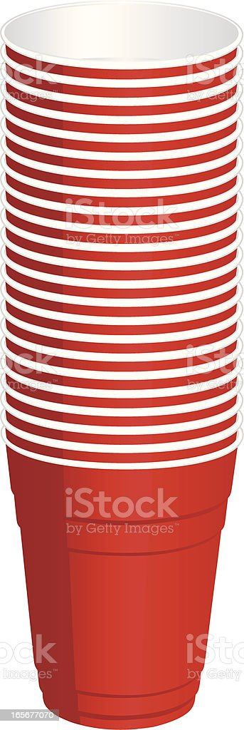 stack of cups royalty-free stock vector art