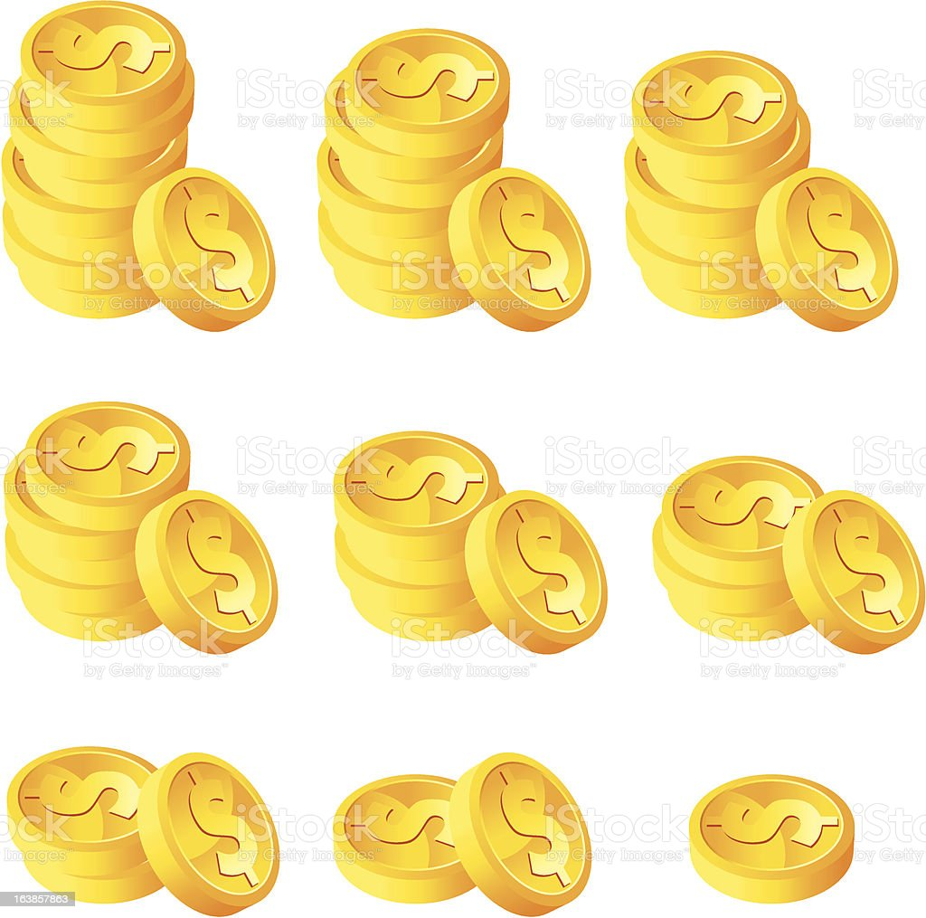 Stack of Gold coins royalty-free stock vector art