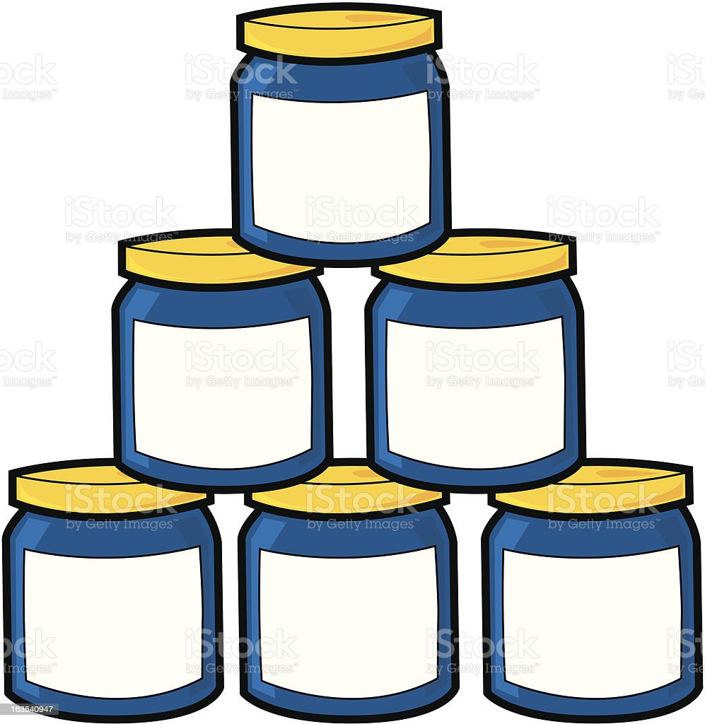 Stack of jars royalty-free stock vector art