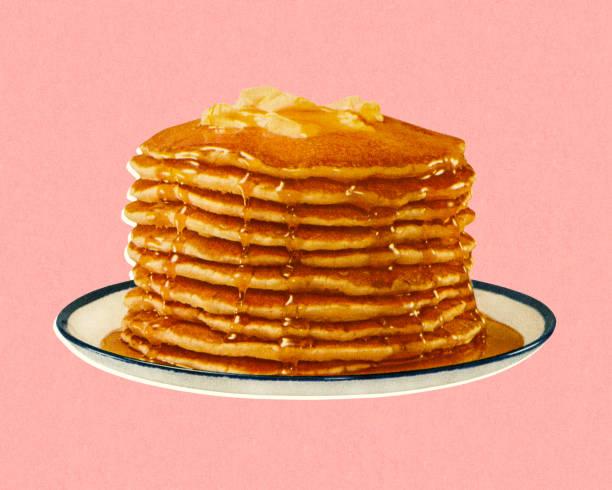スタックのパンケーキ - パンケーキ点のイラスト素材/クリップアート素材/マンガ素材/アイコン素材